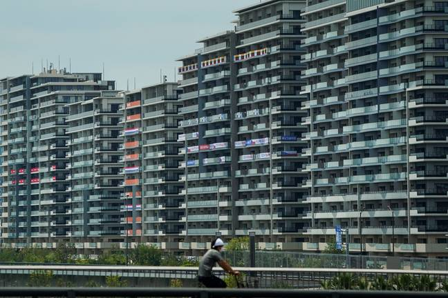Athlete's village for the 2020 Summer Olympics and Paralympics in Tokyo. Credit: PA