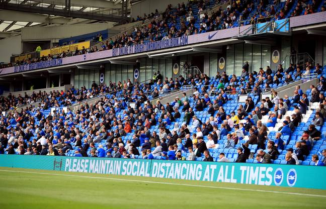 Chelsea and Brighton had fans at their friendly in August. Image: PA Images