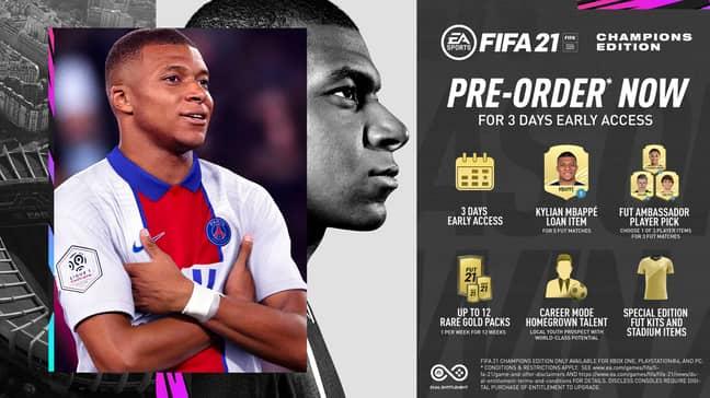 Pre-order bonuses for Champions Edition. (Image Credit: EA Sports)