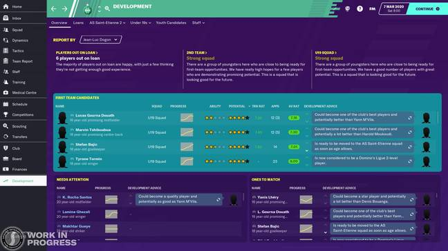 The Development Centre. Image: Football Manager