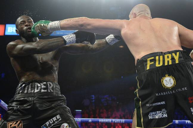 Fury beat Wilder to clinch the WBC title back in February. Credit: PA