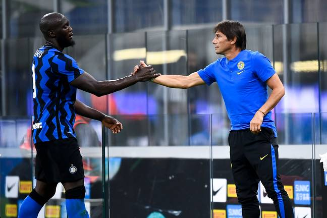 Conte and Lukaku now work together with Inter. Image: PA Images