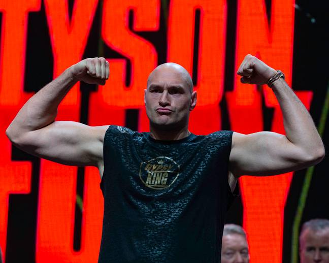Will Tyson Fury get the better of Deontay Wilder tonight? Credit: PA