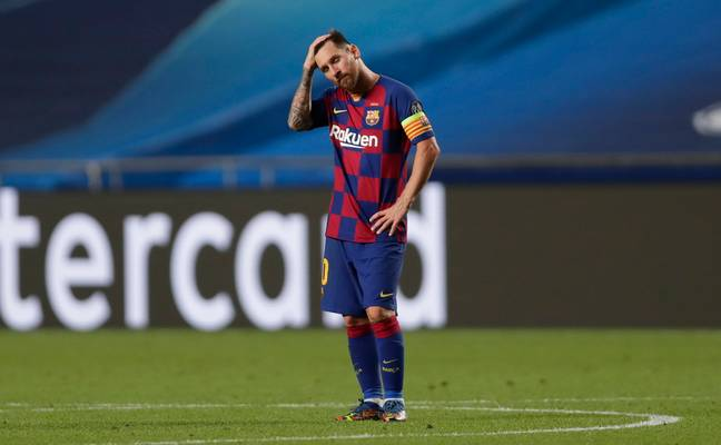 Messi looked likely to leave after the 8-2 Champions League loss to Bayern Munich. Image: PA Images