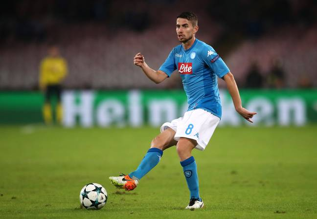 Pep was a big fan of Jorginho when he was at Napoli. Image: PA Images