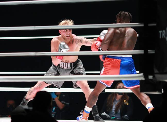Jake Paul during his fight with Nate Robinson. Image: PA Images