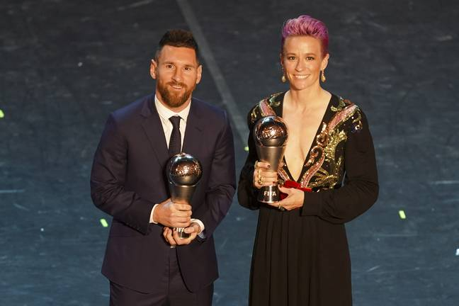 Rapinoe and Messi in September. (Image Credit: PA)
