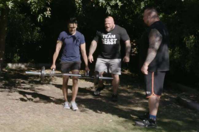 Jay Kamiraz was given a 'beasting' by Eddie Hall in episode two