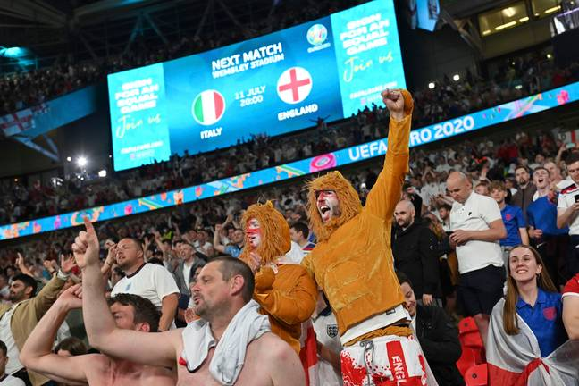 One of the host nations having their fans in the ground seems to have annoyed rival fans. Image: PA Images