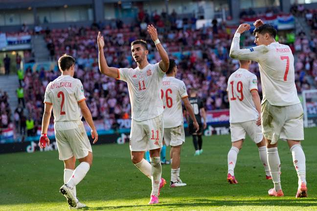 Spain beat 2018 World Cup finalists Croatia 5-3 to book their place in the quarter-final