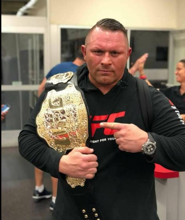 The Bosnian heavyweight had two fights in the UFC before retiring in 2016. Credit: Facebook/Dennis Stojnic