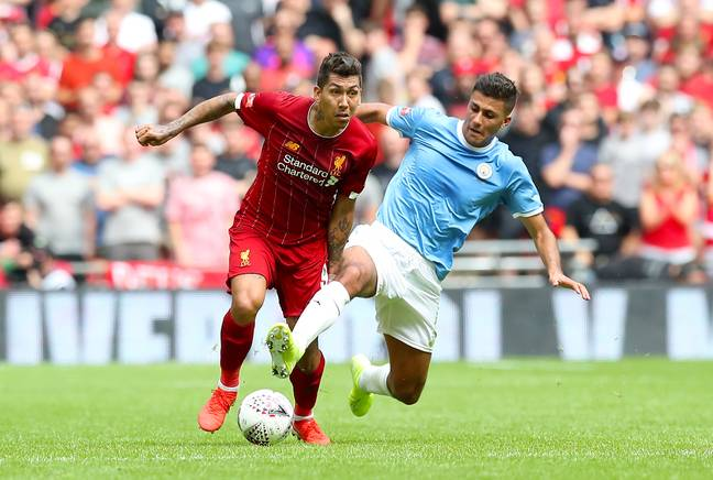 Manchester City's £62.5m midfielder Rodri played against Liverpool in the Community Shield