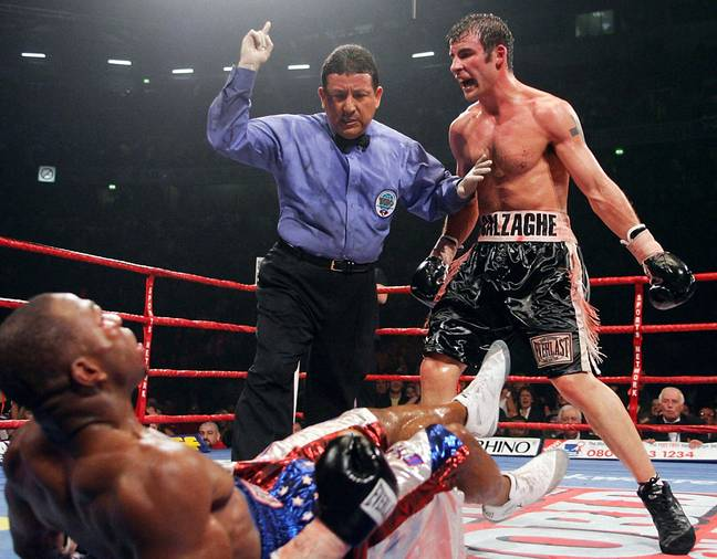 Calzaghe against Jeff Lacy. Image: PA Images