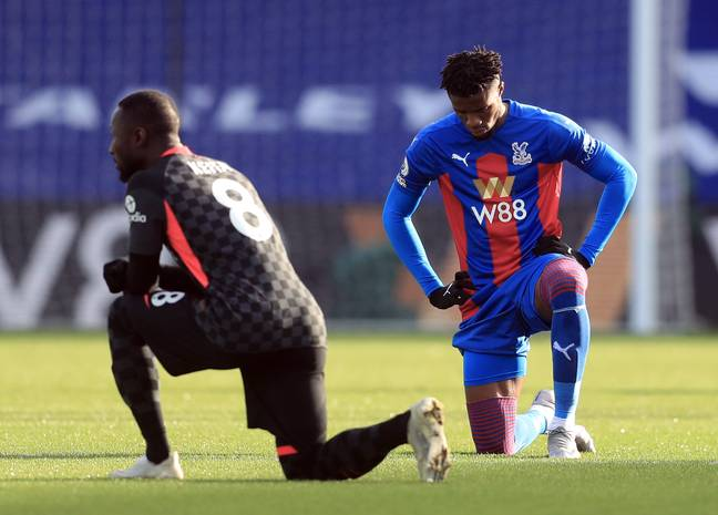 Zaha will no longer be taking the knee. Image: PA Images