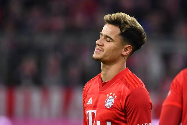 Coutinho has had a frustrating time at Barca and now Bayern. Image: PA Images