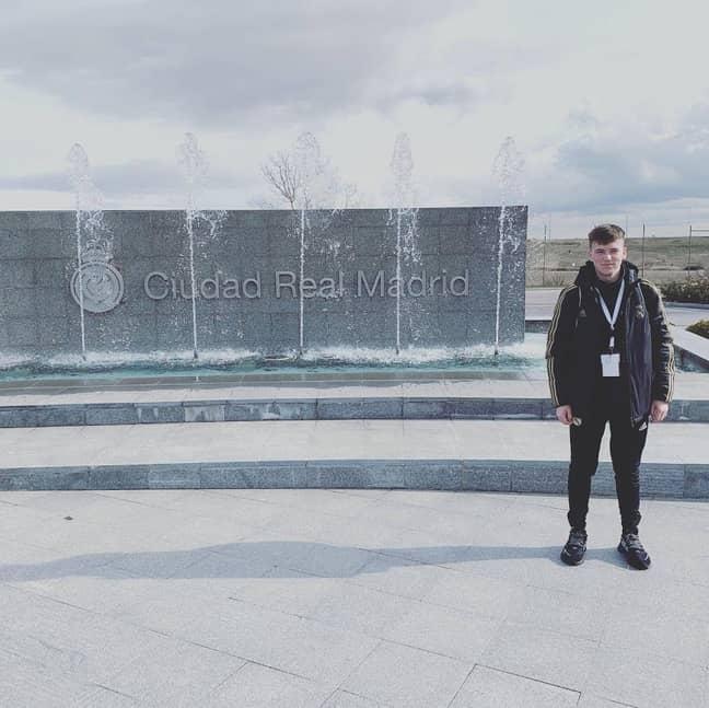 Outside the Santiago Bernabéu Stadium. Credit: Liverpool Hope University/Jordan Hadaway