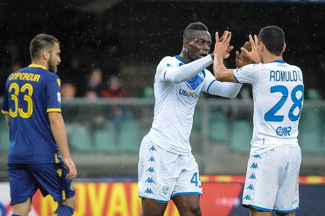 Balotelli did manage to temporarily silence the racists by scoring for Brescia. (Image Credit: PA)