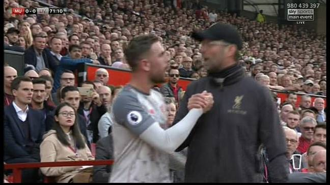 And the two eventually share a handshake. Image: Sky Sports