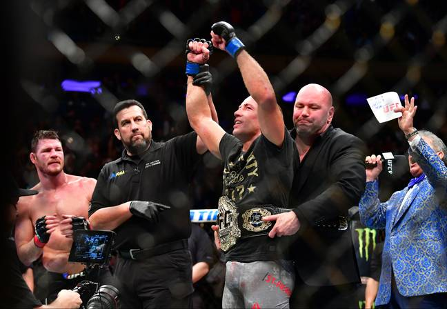 GSP beat Michael Bisping in his final fight. Image: PA Images