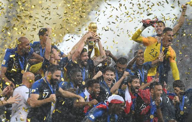France celebrate winning the World Cup in Russia. Image: PA Images