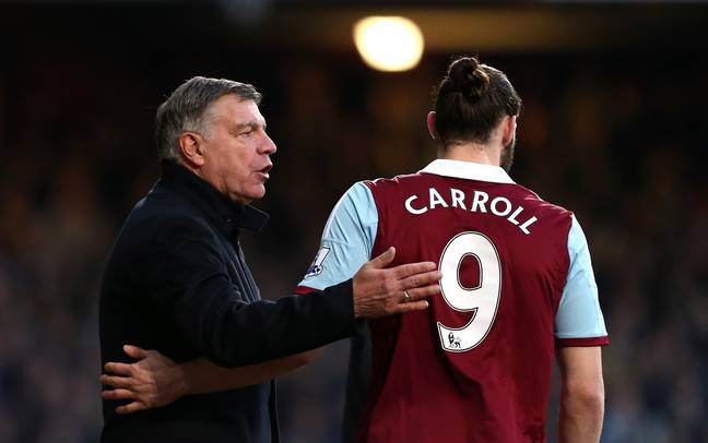 Allardyce and Carroll at West Ham together. Image: PA Images