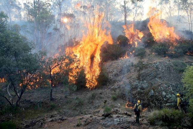 The bushfires have been raging since September last year (Credit: PA)