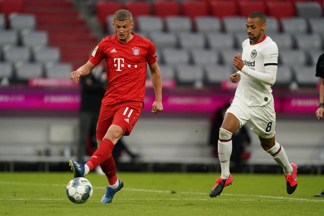Cuisance playing for Bayern last season. Image: PA Images