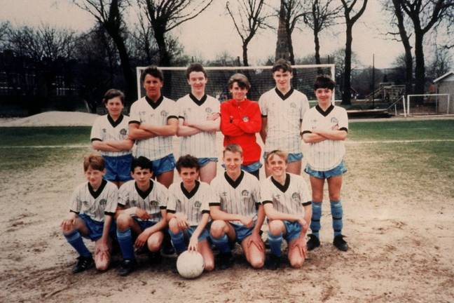 Ryan Giggs: front row, second from left