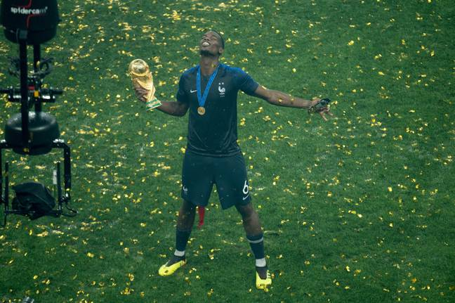 Pogba celebrates winning the World Cup. Image: PA Images
