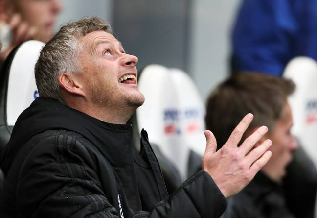Solskjaer's pre match prayers were not answered. Image: PA Images
