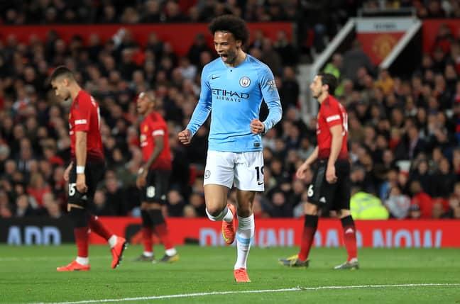 Sane scored 10 Premier League goals this season. Image: PA Images