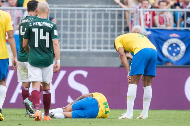 Has Neymar been shot again? Image: PA Images