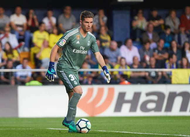 Luca Zidane's position as back up keeper at the Bernabeu is under threat. Image: PA Images