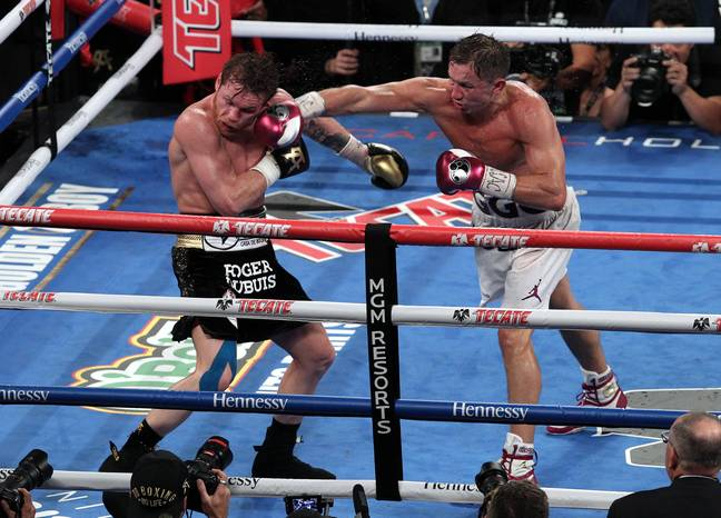 Golovkin lands in his rematch against Canelo Alvarez. Image: PA Images