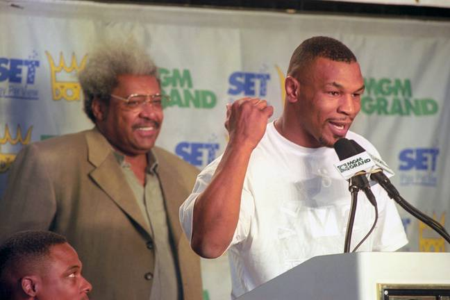 Tyson with legendary former promoter Don King. (Image Credit: PA)