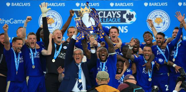 Leicester lift the title. Image: PA Images