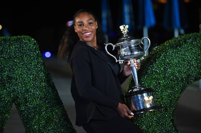 Serena was eight weeks pregnant when she won the 2017 Australian Open. Image: PA Images