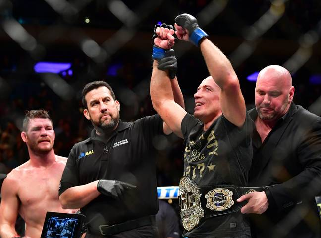 GSP retired after beating Bisping. Image: PA Images