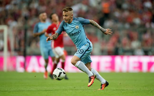 Angelino playing for the City youth team. Image: PA Images