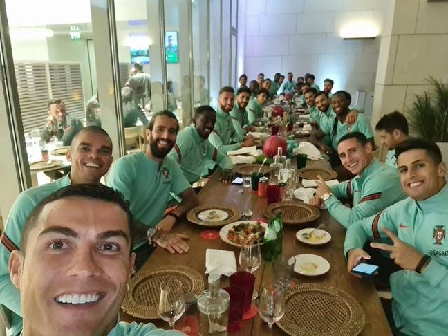 Cristiano Ronald contracted the virus while on international duty with Portugal. Credit: PA