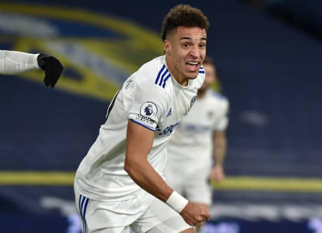 Rodrigo celebrates scoring vs Newcastle. Image: PA Images
