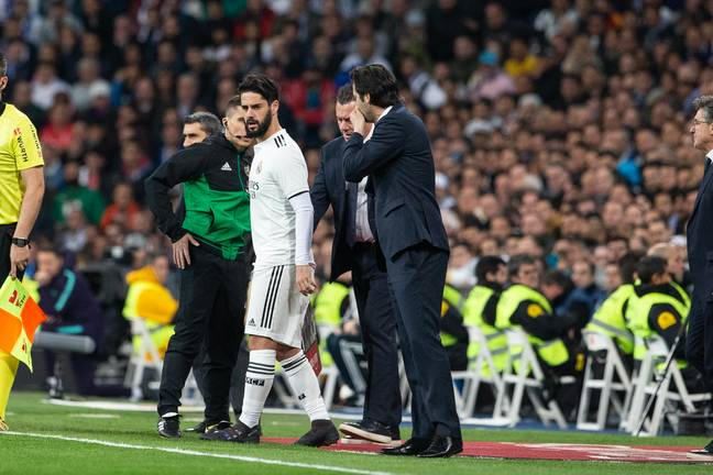 Isco came on against Barcelona and he's mainly been a substitute under Solari. Image: PA Images