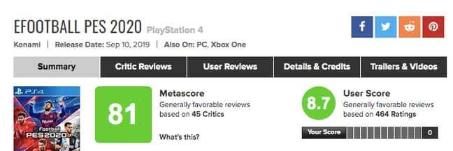 Image: Metacritic