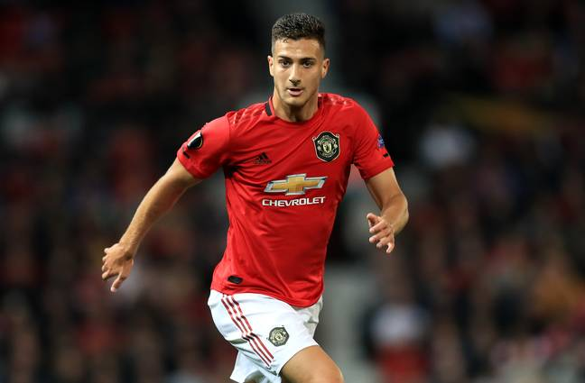Dalot hasn't had much opportunity to prove himself at Manchester United. Image: PA Images