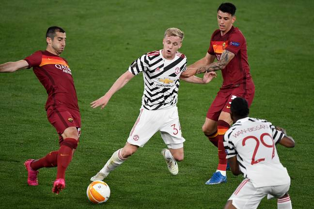 Van de Beek played against Roma on Thursday. Image: PA Images