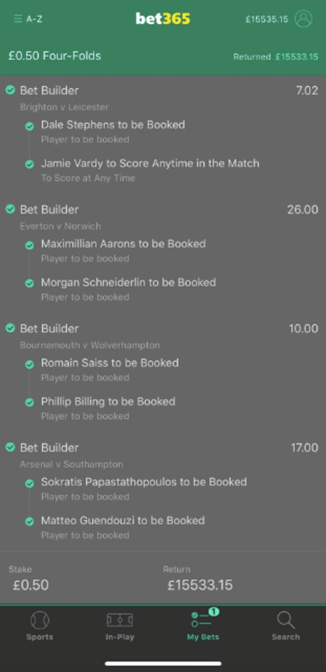 An impressive bet from one lucky punter. Image: Facebook