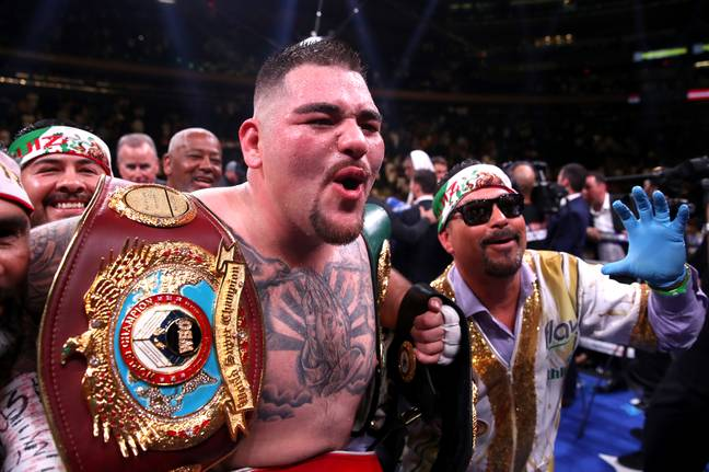 Ruiz screams in delight after becoming world champion. Image: PA Images