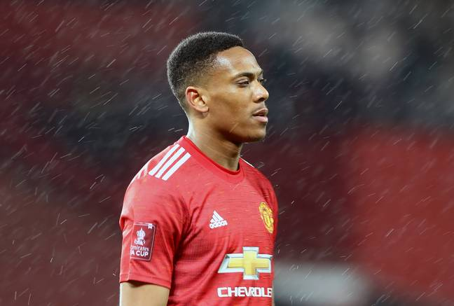 Martial has dropped down the pecking order with the additions of Edinson Cavani and Jadon Sancho in the past two summers. Image: PA Images
