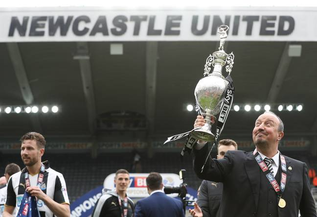 Benitez won the Championship in 2017 but there's not been much to cheer in the north east under Mike Ashley. Image: PA Images