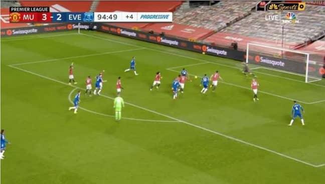 Dominic Calvert-Lewin goal v Man Utd